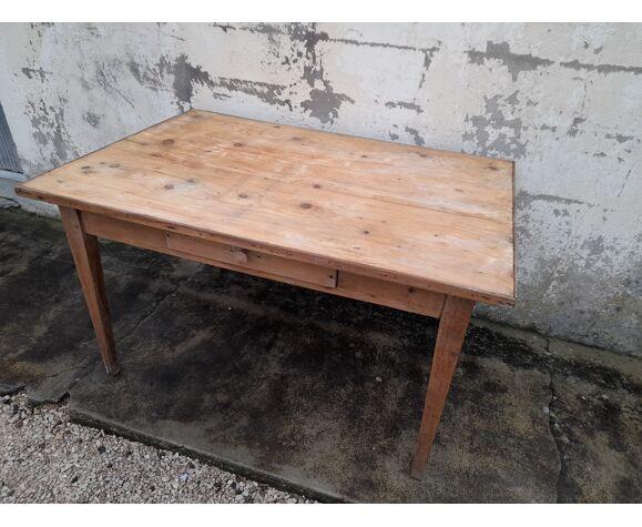 Table de ferme rustique en chêne -1m22