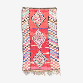 Tapis Berbere Boucherouite 85x205 Cm