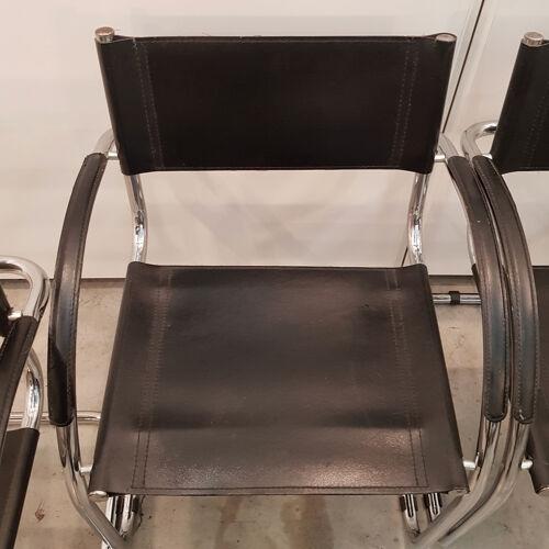 Ensemble de 4 fauteuils noirs