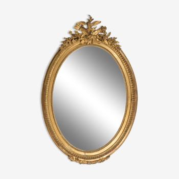 Miroir ovale antique Français