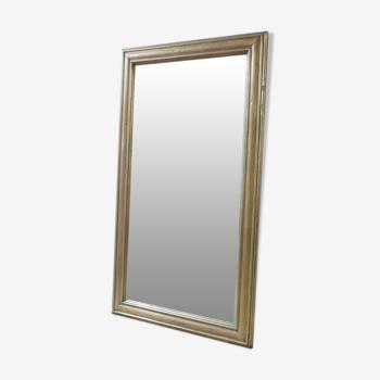 Miroir en laiton de bistrot 83x137cm