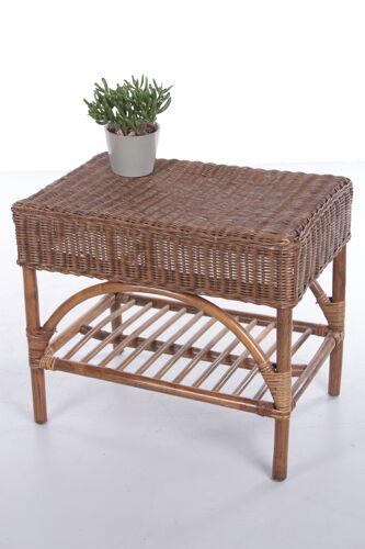 Table d'appoint en rotin vintage,