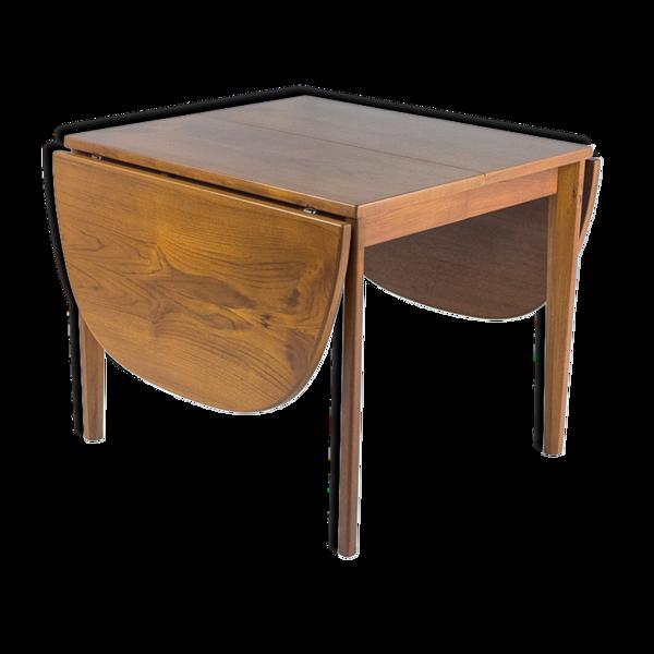 Table danoise à extensions en teck, édition Vejle 1950s, rénovée