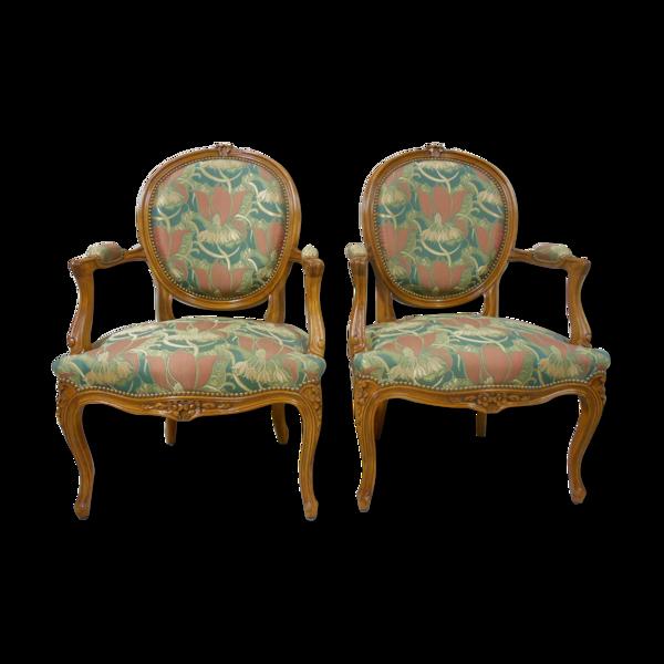 Paire de fauteuils Louis XVI