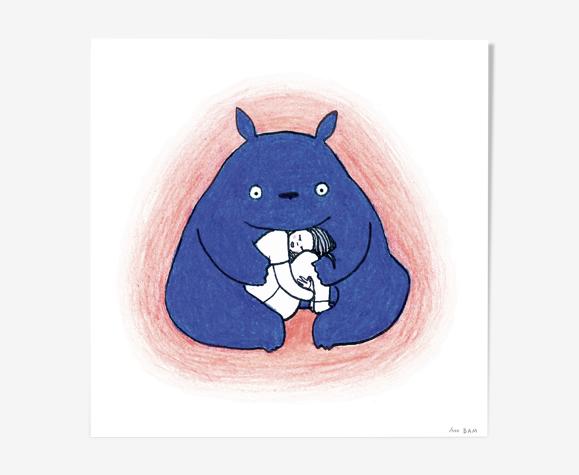 """Illustration """"Meilleur qu'un cheesecake"""" édition limitée, tirage numérique"""