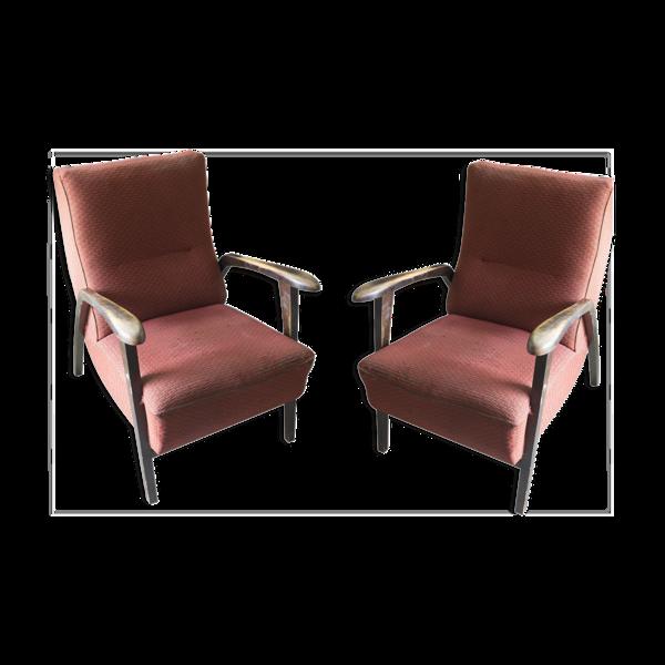 Paire de fauteuils vintage 1940