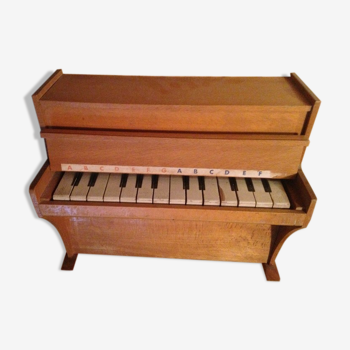 Wooden children's piano from 1950