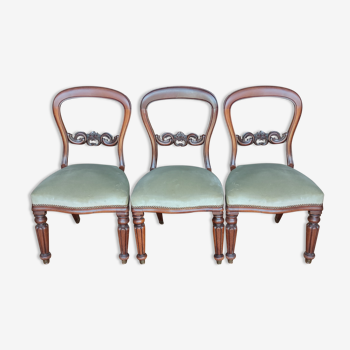 Série de 3 chaises en acajou/19 ème siècle