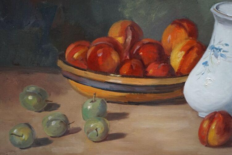 Peinture «Nature morte aux fruits»