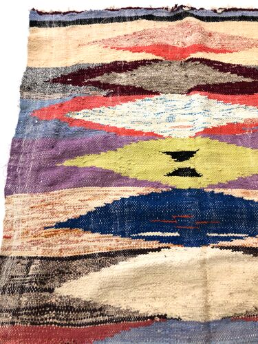 Tapis kilim berbère marocain boucherouite 223x124cm