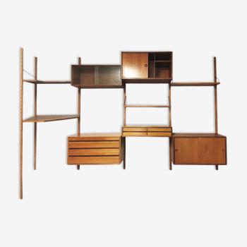Etagère bibliothèque modulable Royal System par Poul Cadovius Danemark 1950 /1960