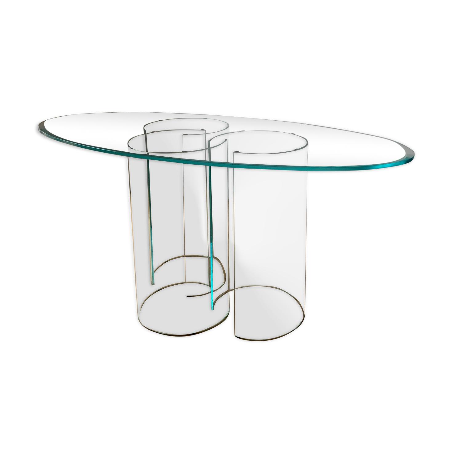 Table en verre Luxor design Rodolfo Dordoni édition exclusive FIAM