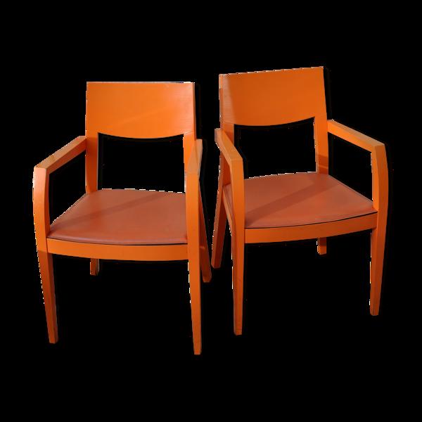Paire de fauteuils bridge des années 60