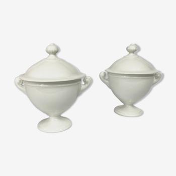 Pair of cutlery pots