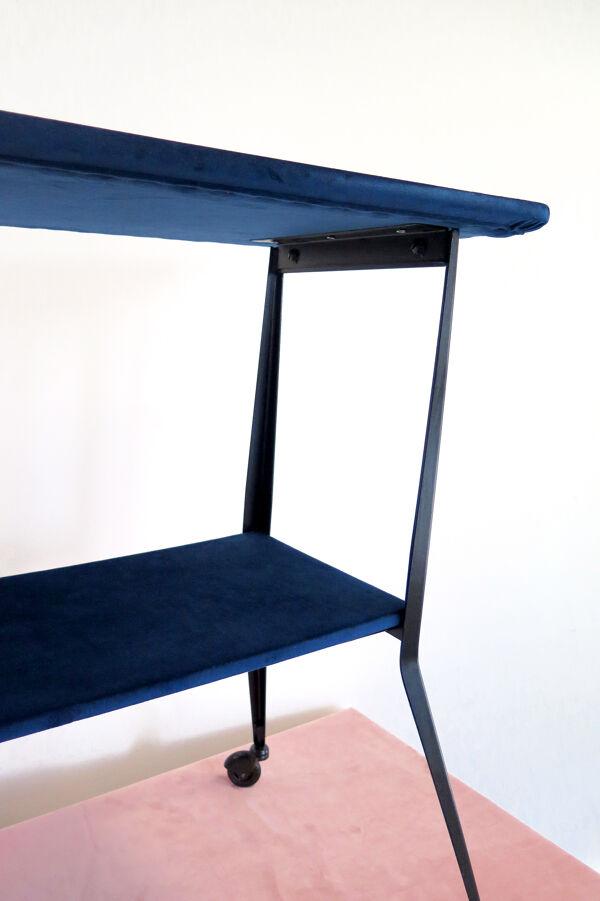 Table vintage retapissée