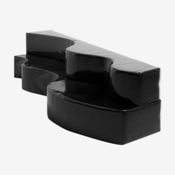 Black 'Superonda' Sofa by Archizoom Associati for Poltronova, Italy - 1967