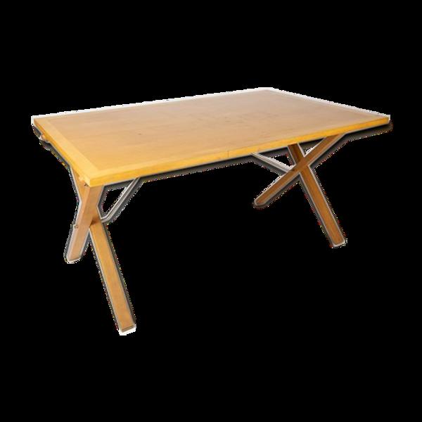 Table à manger en bois clair conçu par Mogens Koch et fabriqué par Cado