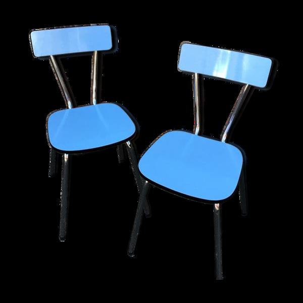 Paire de chaises en formica vintage 1960