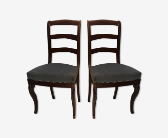 2 chaises assise velours