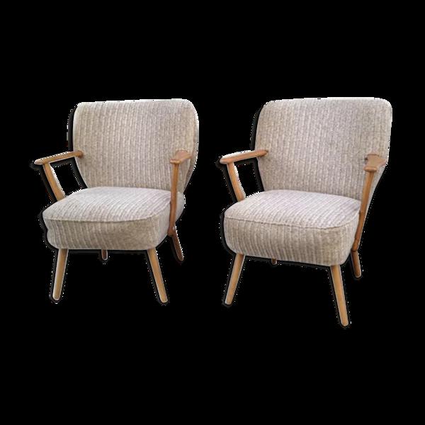 Selency Paire de fauteuils cocktail 1950