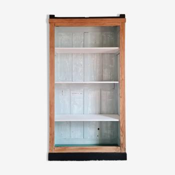 Armoire bibliothèque ancienne rénovée