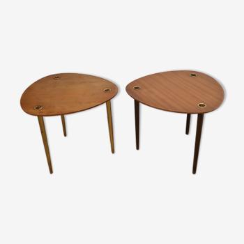 Tables gigognes empilables vintage de Pierre Cruège 1950