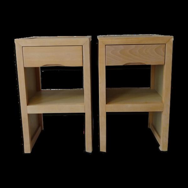 Selency Paire de tables de chevets