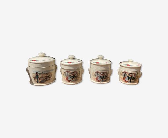 4 pots foie gras Sarreguemines Obernai