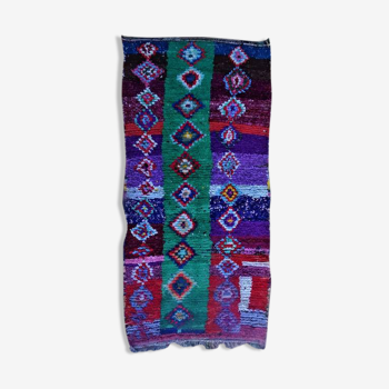 Tapis marocain berbère boucherouite 230x110cm