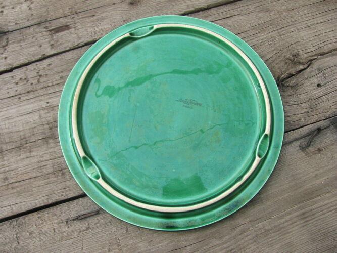 Plateau à fromage - céramique vert - Vintage