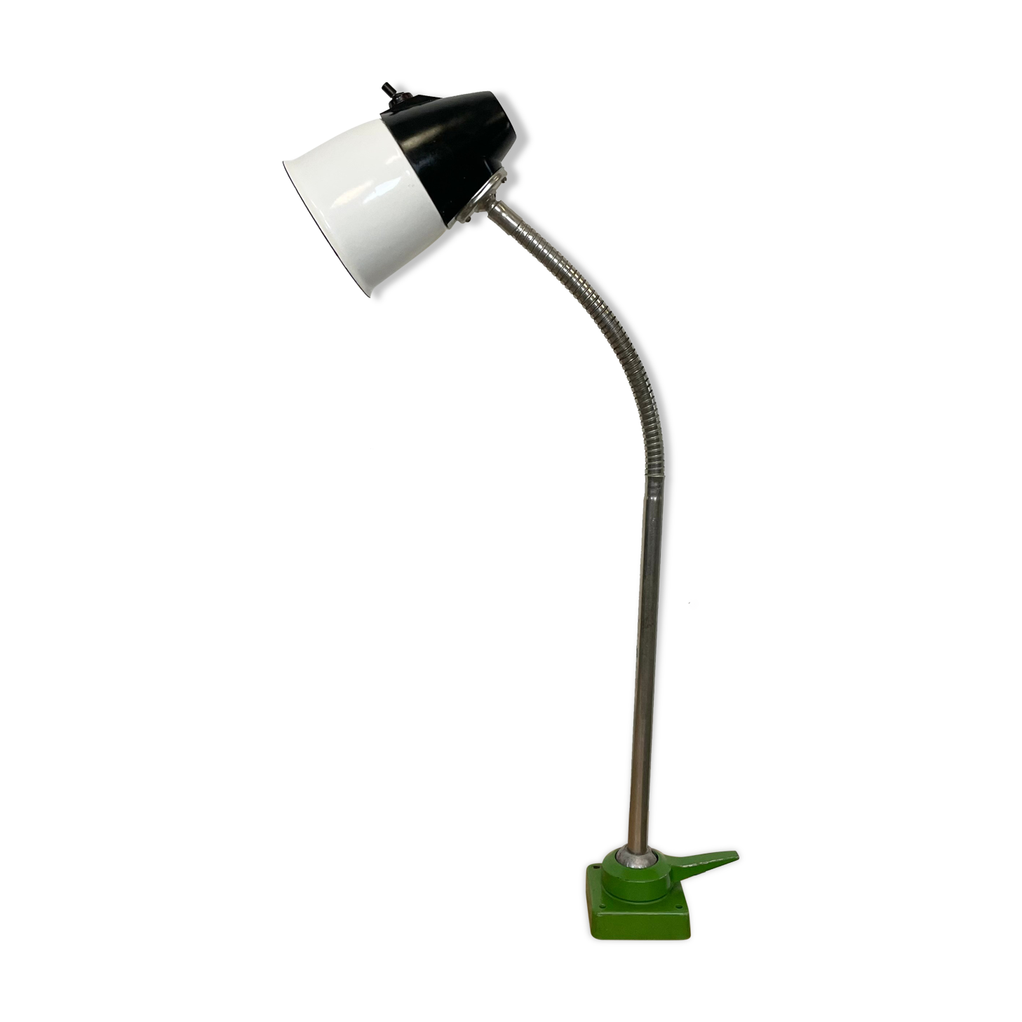 Lampe de table industrielle russe col de cygne, années 1960