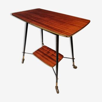 Retro trolley teak design side table
