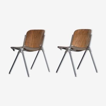 Ensemble de 2 chaises italiennes vintage, années 1960