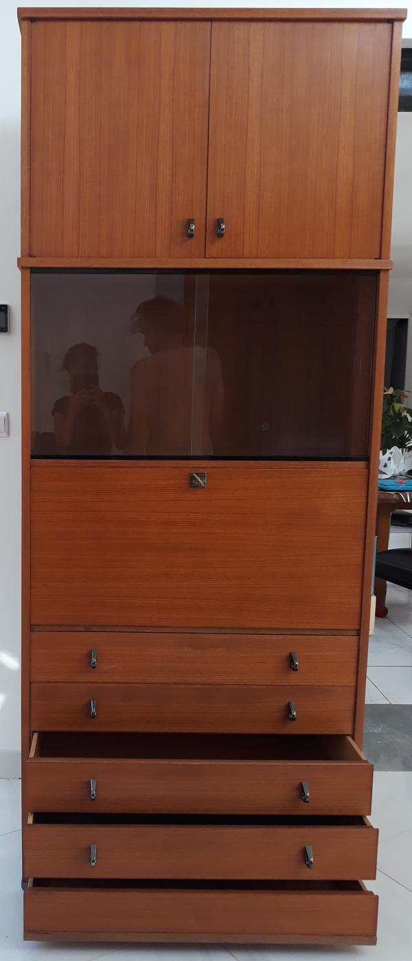 Secrétaire Polymeuble 4 tiroirs et meuble superposé