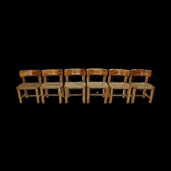 Set de 6 chaises Rainer Daumiller pour Hirtshals Sawmill  Danemark 1970