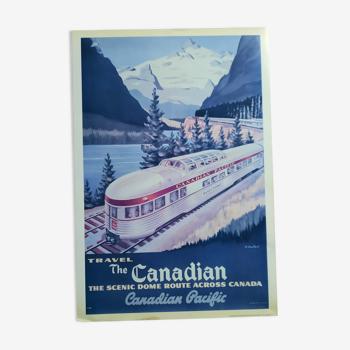 Affiche train canadien vintage