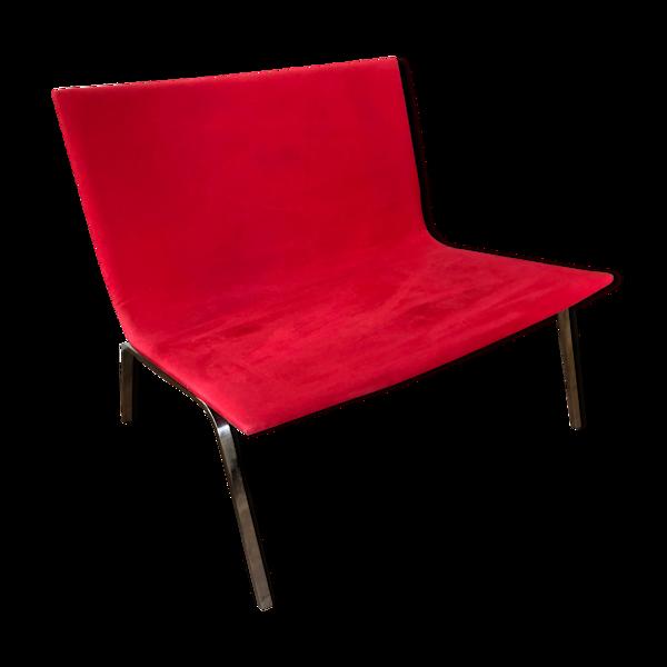 Fauteuil Tacchini Modèle XL Pietro Arosio rouge banquette