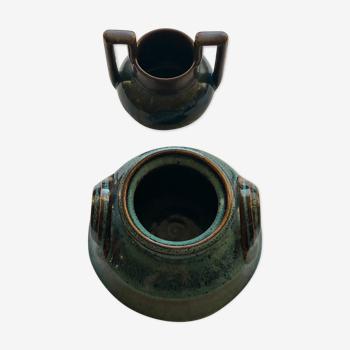 Vases pot en gres vintage