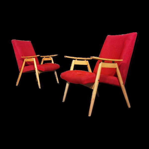 Paire de fauteuils tcheque de Jaroslav Smidek pour Jitona