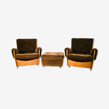 Paire de fauteuils du milieu de siècle en bois par G plan