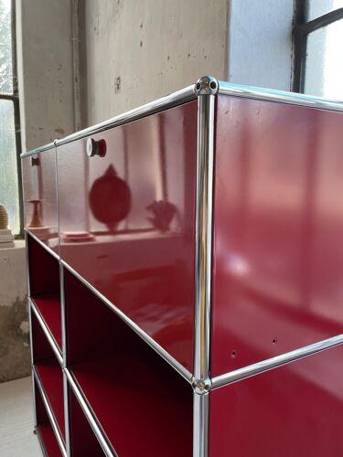 Meuble de rangement USM Haller rouge
