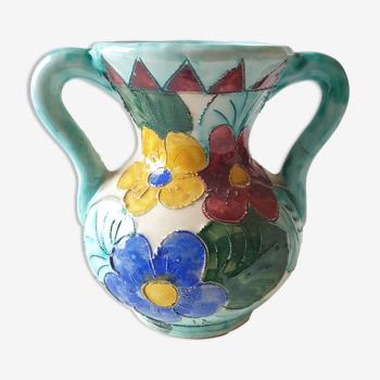 Vase céramique Vallauris vintage années 1950 1960