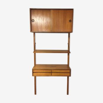 Bibliothèque modulable Royal System par Poul Cadovius Danemark 1950 /1960