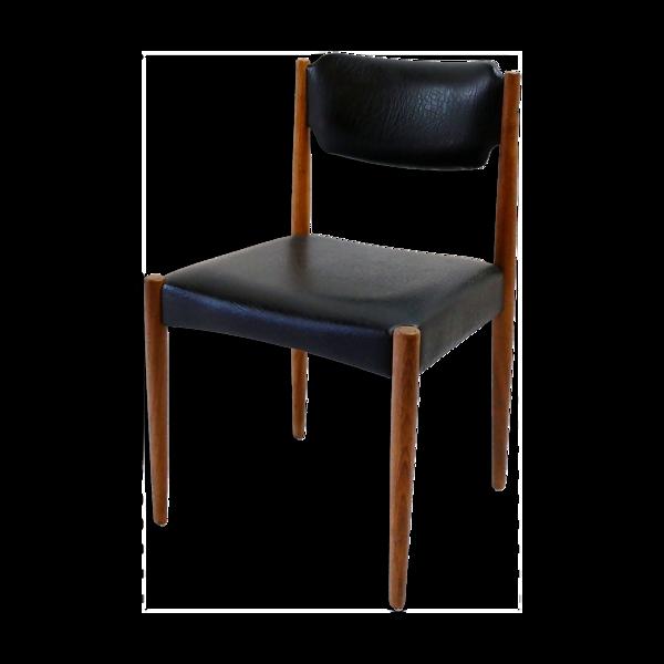 Chaise en teck vintage années 1960
