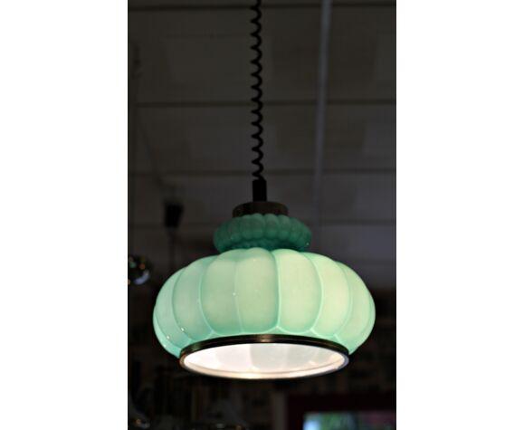 Lampe d'opale turquoise vintage