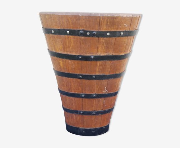Hotte de vendange en bois  idéal pour mettre des plantes, fleurs