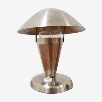 Lampe de table art déco avec abat-jour flexible années 1930.