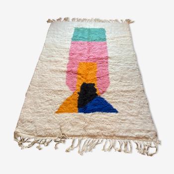 Tapis marocain en laine fait main 255x 183cm