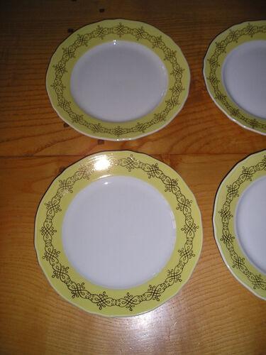 Service d'assiettes en faience pour 6 personnes : 12 pièces