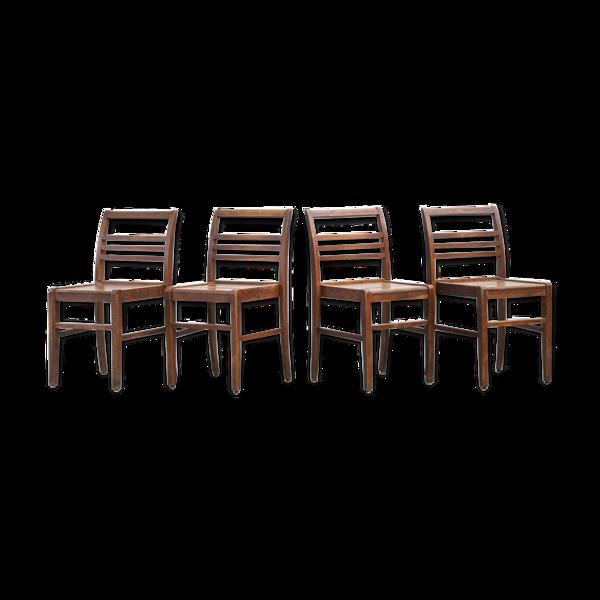 Set de 4 chaises René Gabriel